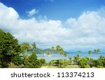Tropical landscape in the sunshine day. Koh Chang island, Thailand - stock photo