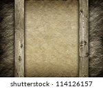 Canvas and wood background - stock photo
