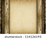 Canvas and wood - template background - stock photo