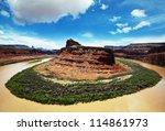 Green river in Dinosaur National Park - stock photo