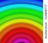 Segment of rainbow as a colorful background - stock photo
