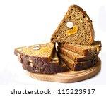 bread with hazelnut, peanut - stock photo