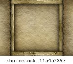 Jute and wood - background or texture - stock photo