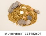 Treasure of gold - stock photo
