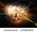 Digital Technology series. Abstract design made of numbers, symbols and fractal elements on the subject of science, information and modern technology - stock photo
