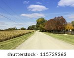 American countryside gravel road - stock photo