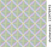 Pink and Yellow Squares Tiled/Seamless abstract pattern with diagonal squares in pink, yellow and blue. - stock photo
