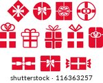 Vectorized gifts - stock vector