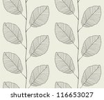 Seamless pattern from leaves - stock vector