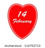 Red heart and valentines day - stock photo