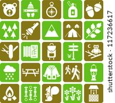 Hiker&Mountain icons - stock vector