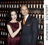 NEW YORK - OCTOBER 15: DITA VON TEESE AND JUSTIN WESTON CELEBRATE COCKTAIL COUTURE AT LA MAISON COINTREAU DEBUTS on October 15, 2012 in NEW YORK CITY - stock photo
