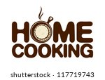 Home cooking icon. - stock vector