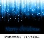 christmas background blue - stock photo