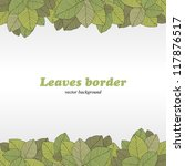 Borders of foliage - stock photo