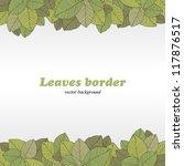 Borders of foliage - stock photo
