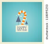 New Year card design template. - stock vector