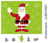 Colorful Characters Christmas : Santa Claus - stock vector