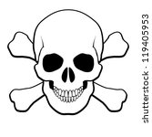 Pirate Skull and Crossbones. Illustration on white background - stock vector