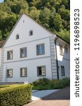 Vaduz, Liechtenstein, 16th August 2018:- A house in central Vaduz, the capital of Liechtenstein - stock photo
