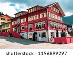 Malbun, Liechtenstein, 20th August 2018:- The Alpen Hotel and restaurant in Malbun, the only ski resort in Liechtenstein - stock photo