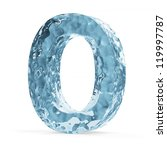 Water Alphabet isolated on white background (Letter O) - stock photo