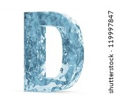 Water Alphabet isolated on white background (Letter D) - stock photo