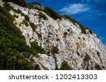 The Rock of Gibraltar. Gibraltar is a British Overseas Territory located on the southern tip of Spain - stock photo