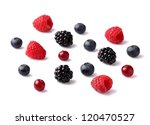 Juicy berry on a white background - stock photo