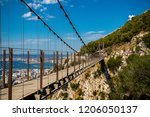 Gibraltar, United Kingdom, 1st October 2018:- The Windsor Suspension bridge on the Rock of Gibraltar. Gibraltar is a British Overseas Territory located on the southern tip of Spain. - stock photo