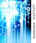 christmas modern blue blur background - stock photo