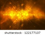 Abstract background - Big Explosion of the sun - End of the world prophecy - Apocalypse - stock photo