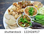 Hors-d'oeuvre ,Thai food Northern style - stock photo