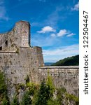 Fortified Citadel in a French Medieval City - stock photo