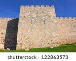 Jerusalem Old City Wall - stock photo