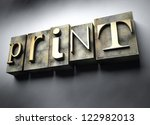 Print concept, 3d vintage letterpress text - stock photo