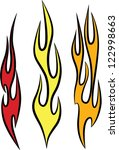 Vector Fire and Flame Graphics - stock vector