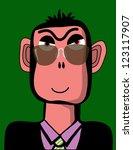 businessman ape - stock vector