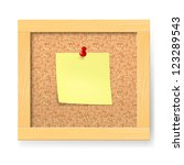 Raster version. Empty notice wooden board. Illustration on white background - stock photo