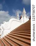 Stairway asian style in Chiang Mai ,Thailand. - stock photo