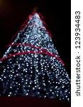 Christmas tree lights shape - stock photo