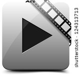 Watch video button - stock photo