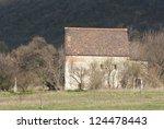 medieval catholic chapel - stock photo