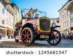 Bad Toelz, Germany - September 15: Participants in a parade on the occasion of the 150th anniversary of the Voluntary Fire Brigade on September 15, 2018 at Bad Toelz - stock photo