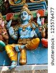 Statue of Lord Krishna at Hindu temple Kapaleeshwarar, Chennai, Tamil Nadu, India. - stock photo