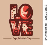 love typography background vector illustration eps 10 - stock vector