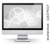 Computer Concept Isolated on White Background. Vector EPS 10. - stock vector