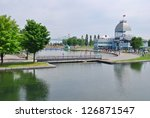 Downtown Montreal Waterfront, Canada - stock photo