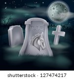 Death of Democrat Party concept of tombstone with Democrat symbol of Donkey on a grave marker (Republican version also available) - stock photo