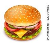 hamburger icon - stock vector